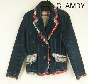 【GLAMDY】 デニムジャケット テーラードジャケット Gジャン
