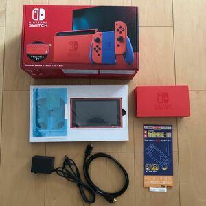 中古 延長保証あり Nintendo Switch マリオレッド×ブルー 本体・ドックセット