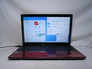 東芝 dynabook T553/37JRS Celeron 847 1.1GHz 4GB 750GB 15.6インチ DVD作成 ブルーレイ Win10 64bit Office USB3.0 Wi-Fi HDMI [80268]