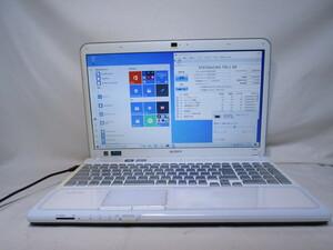 SONY VAIO VPCCB48FJ Core i5 2450M 2.5GHz 4GB 750GB 15.5インチ DVD作成 ブルーレイ Win10 64bit Office USB3.0 Wi-Fi HDMI [80270]