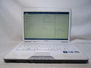 東芝 dynabook CXW/47LW PACW47LLG10W Core i3 330M 2.13GHz 4GB 320GB 13.3インチ DVDマルチ ジャンク [80276]