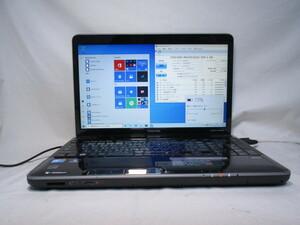 東芝 dynabook TV/68KBL PATV68KRTBL Core 2 Duo P8700 2.53GHz 4GB 500GB 16インチ ブルーレイ Win10 64bit Office Wi-Fi HDMI [80280]