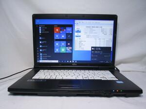 富士通 LIFEBOOK A561/D FMVNA5NE Core i5 2520M 2.5GHz 4GB 480GB 爆速SSD 15.6インチ DVDマルチ Win10 64bit Office Wi-Fi HDMI [80282]