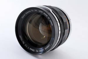 1円売り切り★レンズカビ曇り無しの綺麗な品★シャッターOK Canon FL 58mm f/1.2 MF Prime Lens キヤノン 594@zu