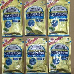 小林製薬 DHA イチョウ葉 アスタキサンチン 30日分×6袋