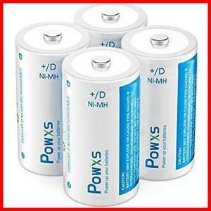 ★特価★★サイズ:単一電池4本★ 7000mAh 約1200回使用可能 ニッケル水素充電池 4本入り MJ-89 充電式 液漏れ防止 単一電池 単1形 POWXS