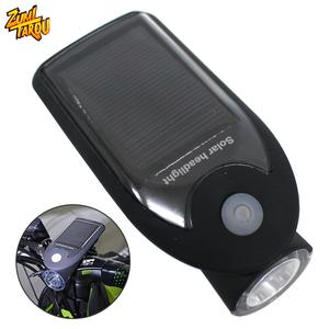 【アウトレット】防水 4点灯モード搭載 ソーラー&USB 自転車用 LEDライト IP64 ホルダー付き ヘッドライト