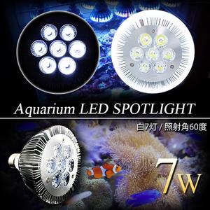 LED 電球 スポットライト 14W 白7灯 水槽 照明 E26 観賞育成用 LEDスポットライト 電気 水草 サンゴ 熱帯魚 観賞魚 植物育成