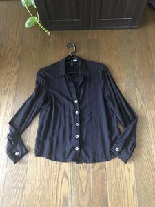 H&M.シフォン.シャツ.xs.美品.黒