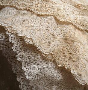 可愛い3種 リボン刺繍 繊細 幅広 チュールレース フランス ヴァレンシエンヌレース 手編み リメイク ドレス 手作りハンドメイド 素材パーツ