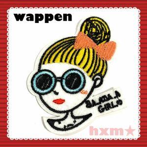 女の子 刺繍アイロンワッペン ワッペン アップリケ