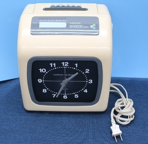 ○【現状渡し】AMANO/アマノ タイムレコーダー BX6100W ※鍵欠品 時刻ずれあり 時刻記録 1995年製