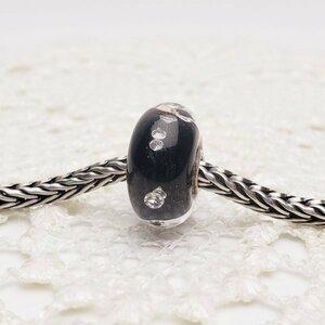 【送料込】トロールビーズ Trollbeads ダイヤモンドビーズブラック SV925 定価¥8360 ガラス