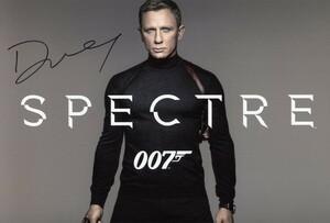 007 ノー・タイム・トゥ・ダイ ダニエル・クレイグ 直筆サイン入り写真 ホログラムシール付 証明書 ジェームズ・ボンド