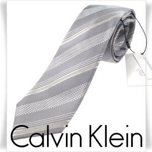 新品1円~★定価1.4万 CK CALVIN KLEIN カルバンクライン 日本製 シルク絹100% ネクタイ 正規店本物 ◆2098◆