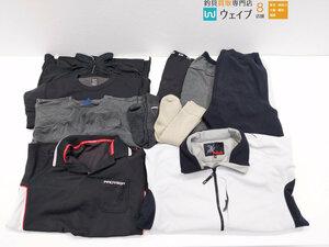 ダイワ プロバイザー ドライシャツ、スパッツ、ブレスマジック 長袖シャツ、ダイコー ジャケットウェア、靴下 計11点