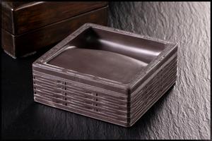 ◆天香楼◆1980年代 端渓角籠形方池硯 端渓硯 唐物AG2295