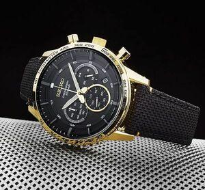 セイコー クオーツ50周年記念モデル SEIKO 逆輸入メンズ腕時計 100m防水クロノグラフ ブラックSSB364P1新品 未使用品