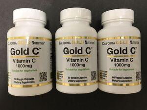 《送料無料 3個》【約6ヶ月分】Gold C ビタミンC 1000mg 60粒(CGN ゴールドC 1,000 サプリメント ビタミン goldc)