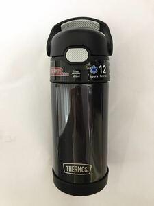【送料無料】《ブラック》サーモス 保冷 ステンレス水筒 ストロータイプ 355ml(ステンレスボトル THERMOS ストローマグ F410 F401 黒 )