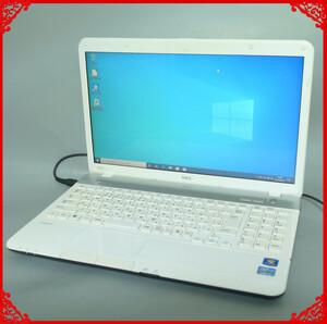 1円~ 中古良品 即使用可能 新品SSD NEC ノートパソコン PC-GL245DEAS 白色 第2世代 Core i5 8GB DVDマルチ 無線LAN WiFi Windows10 Office