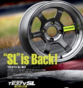 新品 限定モデル TE37V SL 15インチ7J-0 PCD114.3 4H 4本 AE86 RAYS 美品