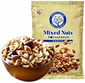 850g アイリスオーヤマ ミックスナッツ 5種 無塩 食塩無添加 850g (アーモンド カシューナッツ くるみ マカダミアナ