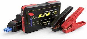 NPET ジャンプスターター P4F 12V車用エンジンスターター 10000mAh ポータブル充電器最大1000A LEDライ