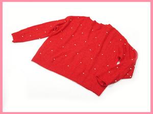 ▲★H&M(エイチ・アンド・エム)◆レディース◆長袖ニット◆赤◆Sサイズ◆美品◆