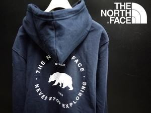新品 THE NORTH FACE ノースフェイス【Sサイズ】ベアープリント BEARSCAPE PULLOVER HOODIE パーカー /AVIATOR NAVY