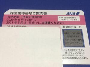 【番号通知のみ、発送しません】ANA 株主優待券 1枚