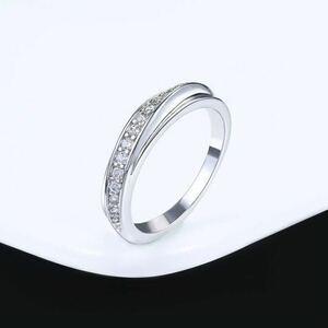 Ladies white gold ring 12 CZ Diamond Ring Ring yellow ring