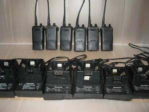 松下通信工業製 40シリーズ 携帯無線機 6台セット