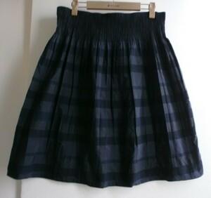 ★アリスバーリー ネイビー系スカート 大きいLL リバーシブル