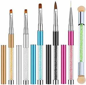 マルチカラー 6個アソート ネイルブラシ6本セット ネイルアート筆 ブラシ ネイルペン アクリル 画筆 UV用 ネイルツール ネ