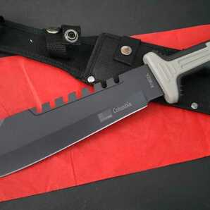 Y1113 大型サバイバルナイフ マチェット 鉈 包丁 テント フィッシング タープ 焚き火 薪 料理 枝打ち 枝払い