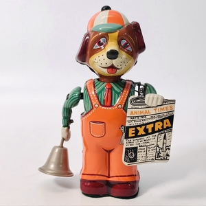 中古品 日光玩具 ブリキ玩具 WIND-UP NEWS-DOG ゼンマイ ニュースドッグ 北原照久 ビンテージ