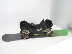 ELAN/エラン DC SCOUT/ディーシースカウト他 スノーボード/スノボ3点セット 板+ビンディング/バインディング+ブーツ メンズ27cm(31-2-5)