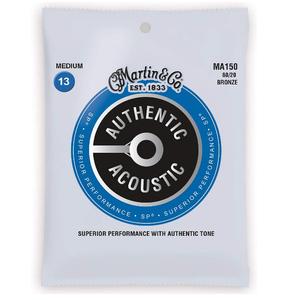 送料無料 Martin マーチンアコースティックギター弦 アコギ弦セット ギター弦 Medium(013~056)MA150