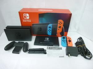【31383】 Nintendo Switch ニンテンドー スイッチ 本体 HAC-001 / Joy-Con ネオンブルー・ネオンレッド