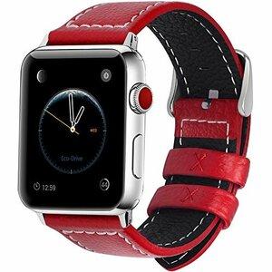 レッド 42mm/44mm Fullmosa コンパチ Apple Watch バンド ベルト アップルウォッチバンド 44mm