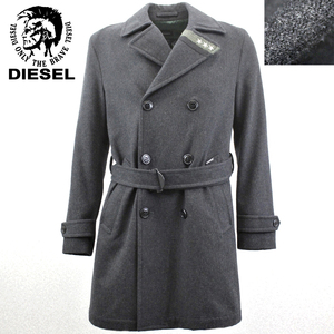 相場価格¥53,900- 美品 国内正規品 DIESEL ディーゼル フランノウール ミリタリー トレンチコート ブラック 黒 S(JP:M) メンズ 紳士