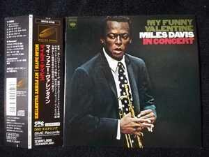 【帯付紙ジャケCD】Miles Davis - My Funny Valentine - Miles Davis In Concert 1965年(2000年日本盤) モダンジャズ名盤 Herbie Hancock