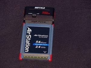 BUFFALO WLI-CB-G54HP バッファロー PCカード Wi-Fi 子機