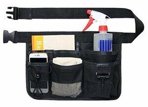 ブラック NYSh エプロン バック 仕事用 小物入れ 腰袋 作業用 ポケット 工具袋 ウエストポーチ