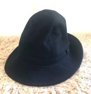 セール 定番 Yohji Yamamoto POUR HOMME ヨウジヤマモト プールオム フェドラハット ブラック 黒 サンプル品 HF-H09136-1-03 帽子 キャップ