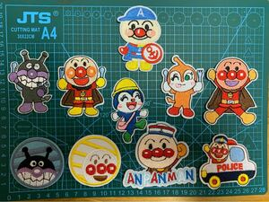 アンパンマン 刺繍アイロンワッペン 10枚セット