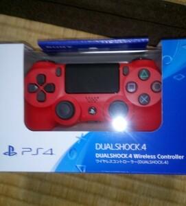 PS4 ワイヤレスコントローラー マグマレッド 新品未開封