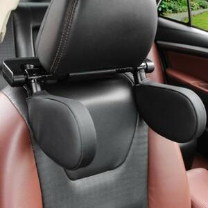 Mz366:車の座席のヘッドレスト 首枕睡眠側頭部サポート 高弾性ナイロン格納式サポート 両側 子供