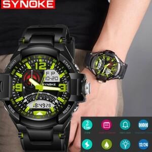 Mz410:ファッション 多機能 スポーツウォッチ 男性 ステンレス鋼 防水 腕時計 ギフト